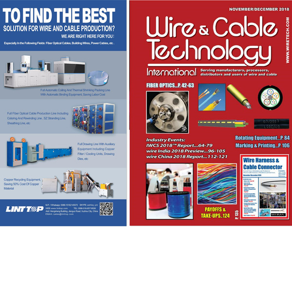 The Advertisement of Optical Fiber Production Line on the Magazine