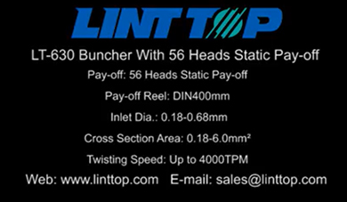 LT 630 Buncher With 56 Heads Static Pay-off